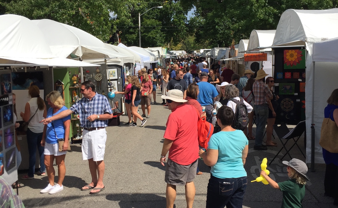 The beloved 4th Street Festival of the Arts and Crafts returns to Bloomington on Labor Day weekend. The number of booths will be reduced to 80 from the pre-pandemic 125 (pictured), but for many of the artists, this will be the first show they've been able to do in 18 months. They say they are ready!